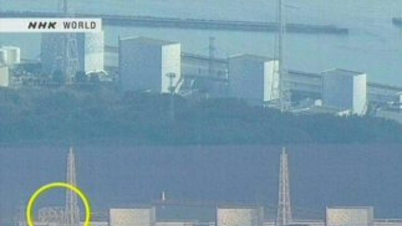 Los muros de una instalación en una estación nuclear de energía eléctric...