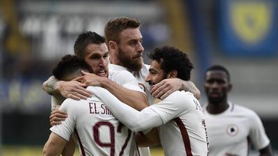 Roma golea al Chievo y defiende su segunda posición