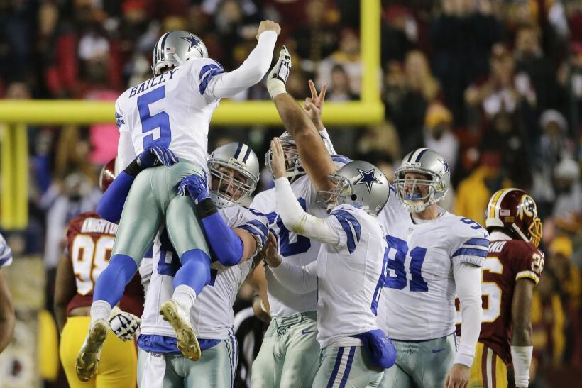Los Cowboys ganaron en el último instante a los Redskins 19-16. E...