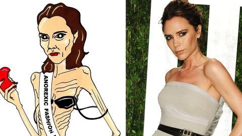 Una imagen 'anoréxica' de Victoria Beckham aparecía en el...
