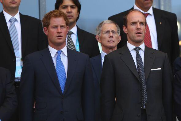 El príncipe Harry de Inglaterra asistió a los partidos del Mundial de fú...