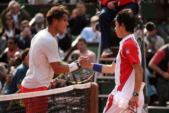 Más tarde se llevó a cabo el partido entre el español Rafael Nadal y el...