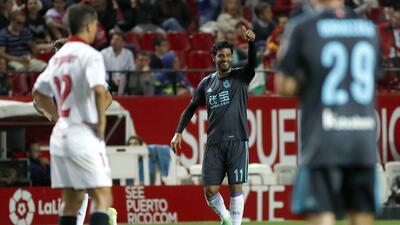 Carlos Vela metió el gol de la Real Sociedad en el 1-1 en Sevilla