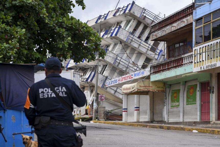 México un día después del terremoto del 7 de septiembre.