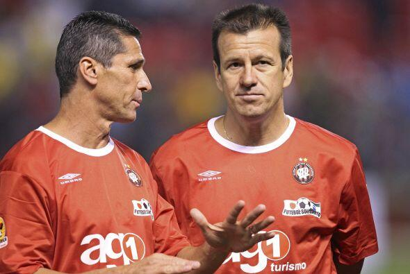 Ellos también estuvieron presentes en el estadio Arena da Baixada...