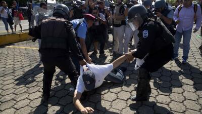 Detienen a varias personas que pretendían realizar una marcha pacífica en Nicaragua