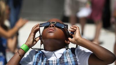 Así se vivió #ElGranEclipse en Miami