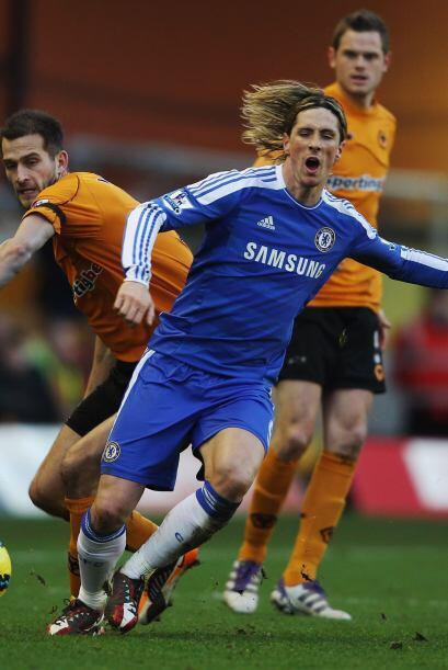 Fernando Torres recibió la oportunidad como titular, pero sigue sin pode...