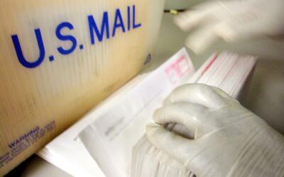 El sobre con polvo blanco se recibió por correspondencia.