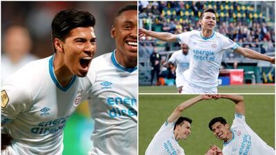 Goles, asistencias, debut: el poder mexicano se hizo presente con goles del 'Chucky' y 'Guti' en la goleada del PSV