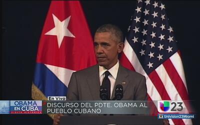Lo más importante del mensaje de Obama en Cuba