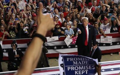 Trump, durante su intervención en Pennsylvania