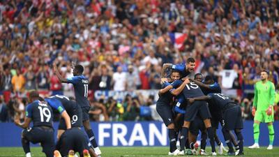 Así festejó Francia su título como campeón del Mundial de Rusia 2018