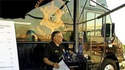 Sheriff Arpaio en conferencia de prensa