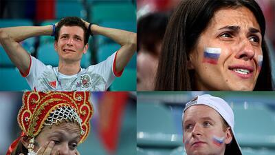 En fotos: Los rostros de la eliminación de Rusia en su Mundial