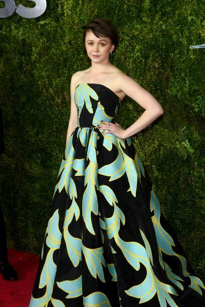 Incluso, un 'dress' de 'prints' súper llamativos como el de Emily Skeggs...