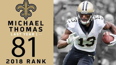 #81 Michael Thomas (WR, Saints) | Top 100 Jugadores NFL 2018