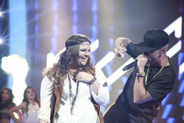 El otro juez invitado de la semifinal la eligió para un dueto.