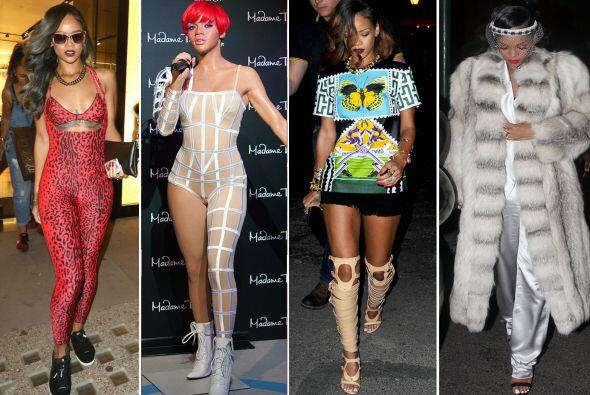¡Rihanna se la vive en un eterno 'cosplay'! Estos son los 'looks' más ex...