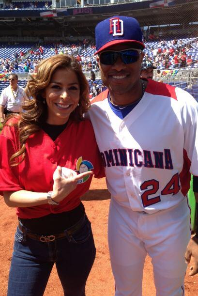 Con Robinson Canó, otro orgullo dominicado del béisbol y actual segunda...