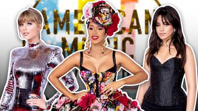 Cardi B, Camila Cabello, Taylor Swift y otros artistas que brillaron a su paso por la alfombra de los AMAS