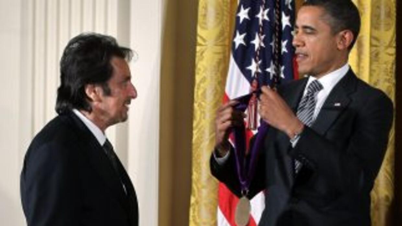El presidente quiso rendir homenaje al actor Al Pacino por su contribuci...