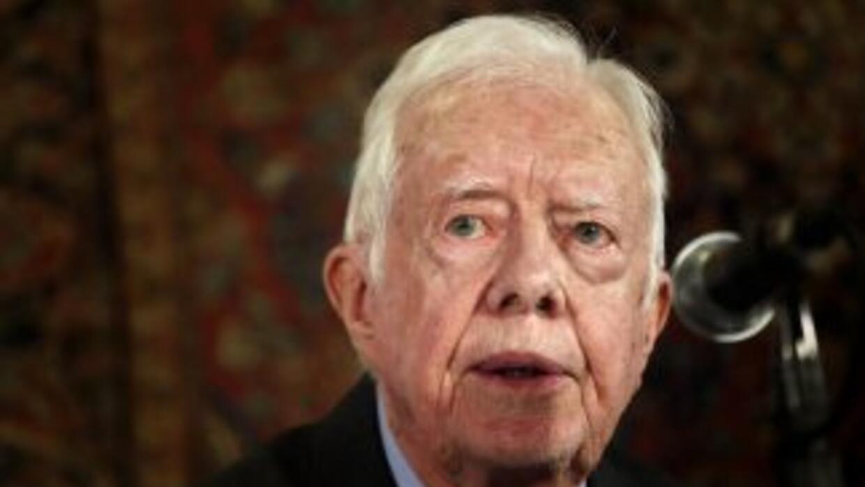 El expresidente estadounidense Jimmy Carter.