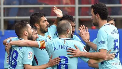 Barcelona gana 2-0 en Ipurúa y afila sus garras para visitar al Chelsea en la Champions