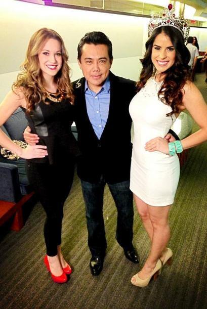 Raúl Brindis estuvo presente para ver a las bellezas latinas.