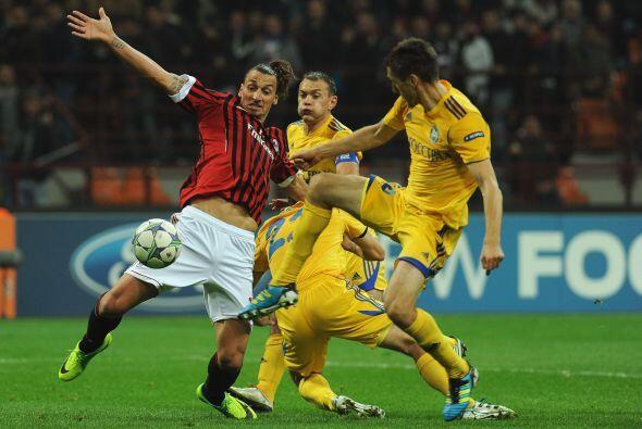 En Italia, Milan despachó al desconocido Bate Borisov.