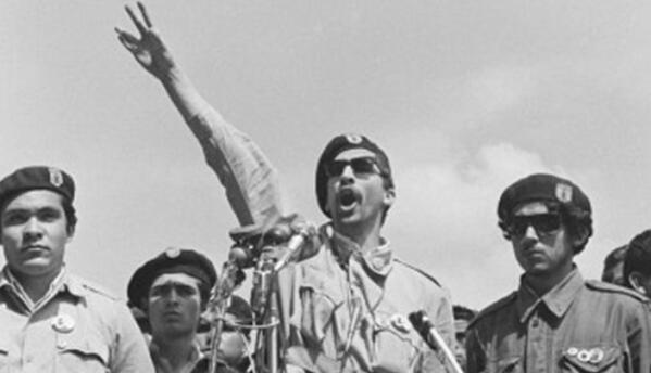 Carlos Montes dababa un discurso durante los 'Walkouts' del Este de Los...