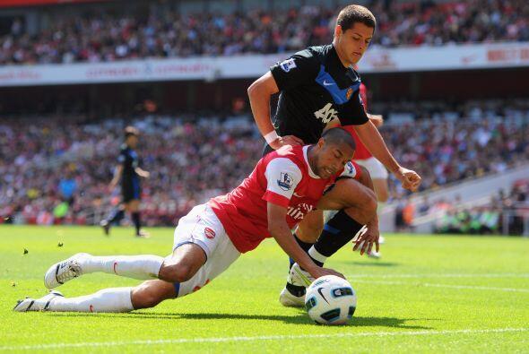 Arsenal recibió al Manchester United, el líder del torneo.