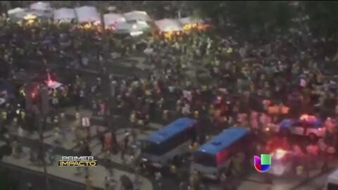 """Una estampida se produjo en Brasil tras robos en el """"Fanfest"""""""