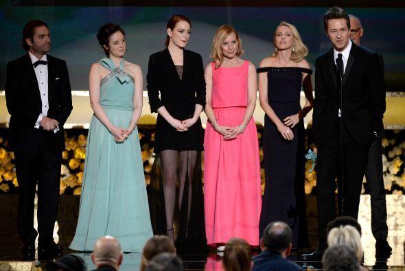 El elenco de 'Birdman' fue el triunfador de la noche.