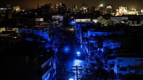 Calles sin luz en Puerto Rico