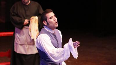 Laureano Ortega es el protagonista de la ópera Tosca en Managua. Interpr...