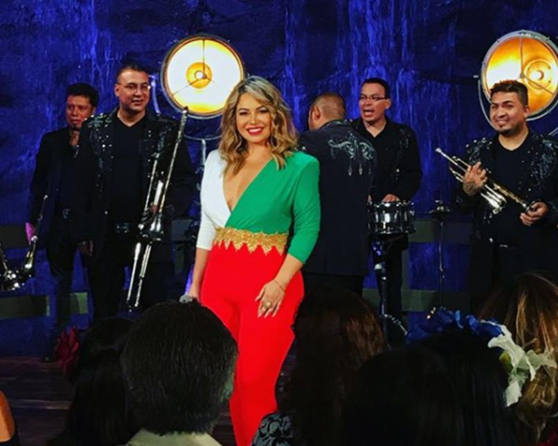 Chiquis Rivera en el concierto por el Grito de la Independencia de Méxic...