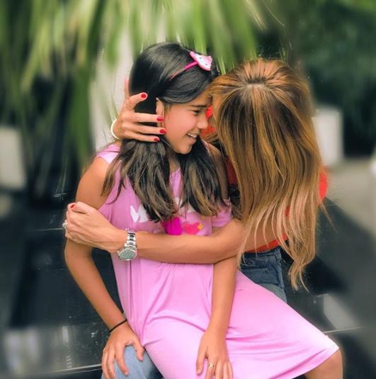 Karla y su hija Michaella