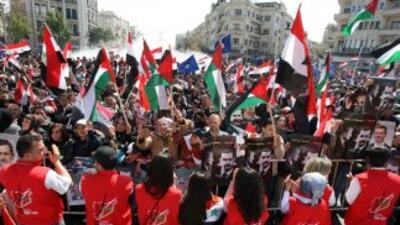 Burhan Ghaliun, presidente del Consejo Nacional Sirio (CNS) hizo una pri...