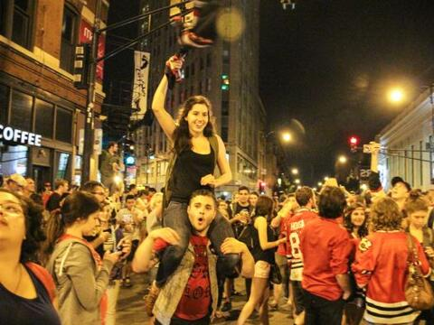 Los fanáticos salieron a las calles a celebrar el 5to títu...