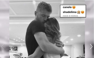Canelo and De Lima confirmed their relationship earlier this week when t...