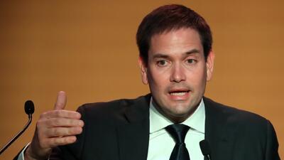 Cara a cara con el senador Marco Rubio en la Cumbre de las Américas en Lima