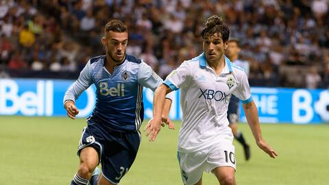 Nicolás Lodeiro, Russell Tiebert Seattle Sounders vs. Vancouver W...