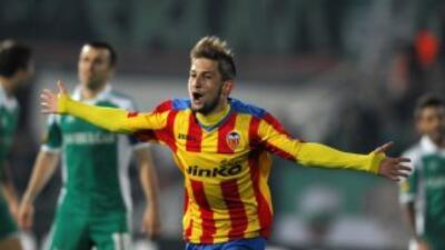 Fede convirtió el segundo gol de los valencianos, ya cuando el equipo es...