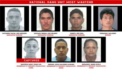 Imagen de los miembros de la MS-13 añadidos desde este jueves a la lista...