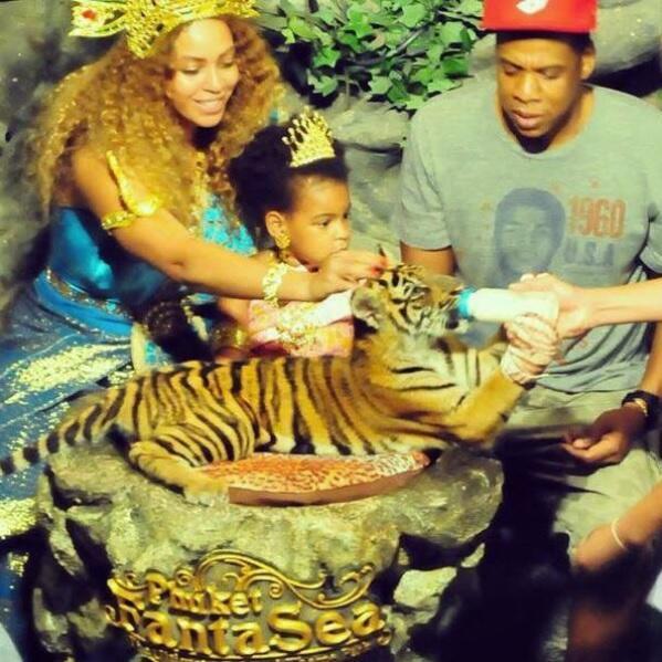 Beyonce con tigre