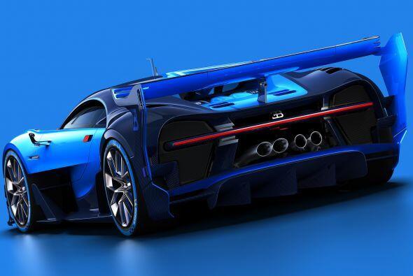 Comenzando por el exterior, el Bugatti Vision Gran Turismo hereda la sil...