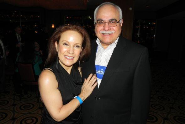 Luisa Echevarría con el ejecutivo José Ruano