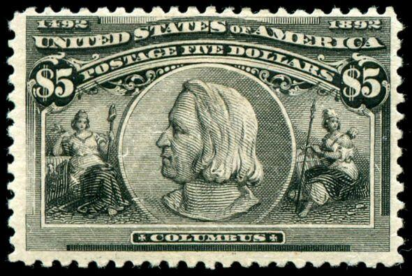 El billete de Estados Unidos, emitido en 1893, muestra un perfil herm&ea...