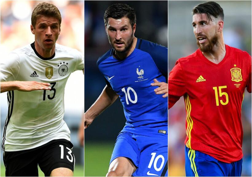 Las selecciones favoritas para salir campeón de la Eurocopa 2016...
